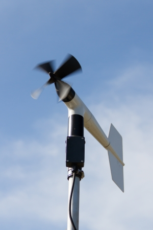 anemometer: windmill style of anemometer - such weather monitoring