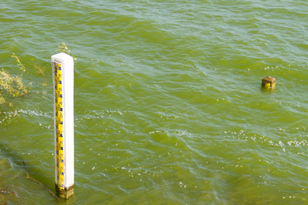 Pillars Measure water level in the reservoir photo