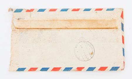 old envelope: Old envelope on white background