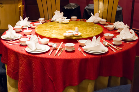 Chinese style dinner table