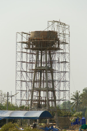 Water tank under the construction photo