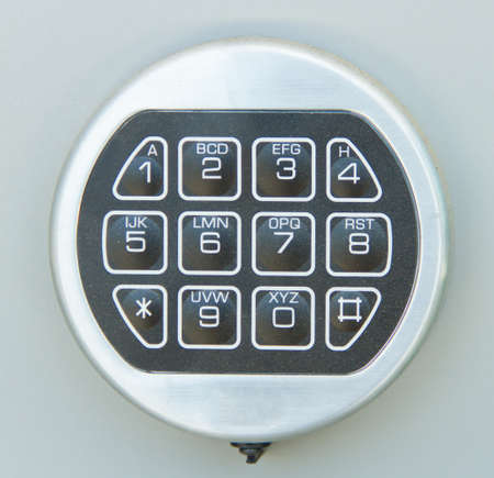 Digital dial plate of security lock photo