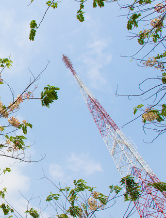The antenna and  blue sky photo