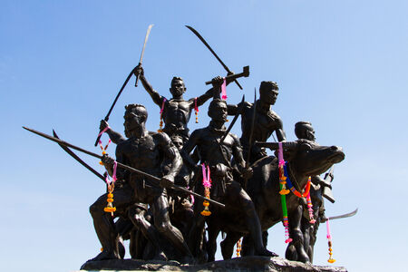 BANGKOK - MAY 24, 2014: Bang Rachan Heroes Monument  in Singburi, Thailand
