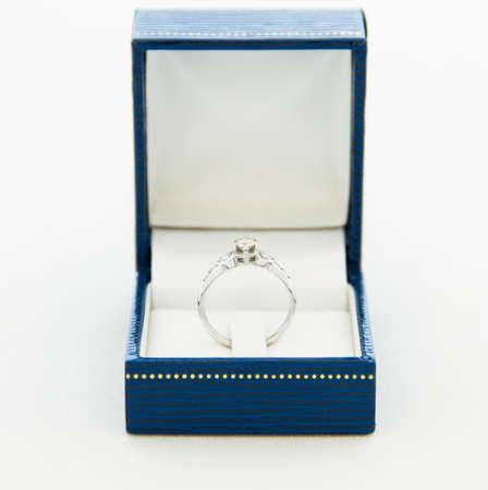 diamond ring in a box photo