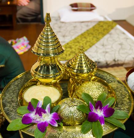 Natural cream for massage spa treatment Thai style photo