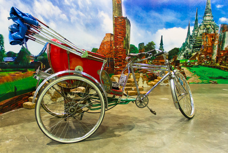 trishaw: Tricycle at Ayutthaya in Thailand