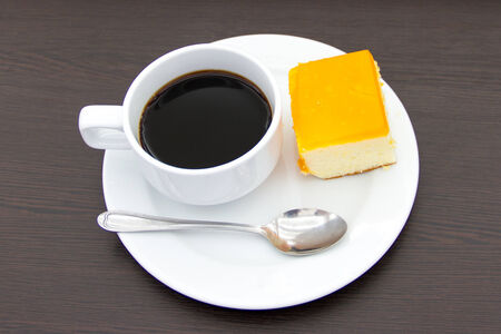 coffee and cake for break photo