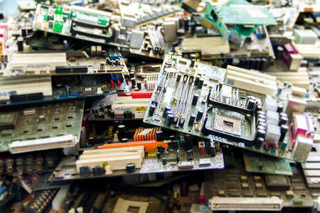 Electronic waste ready for recycling(mainboard computer)