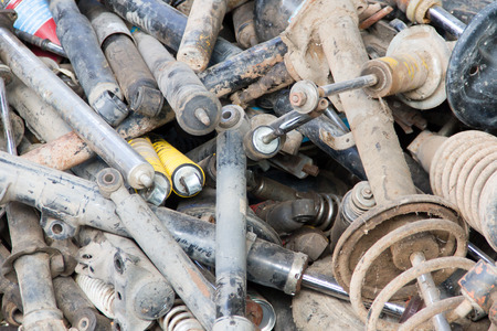 trashed: Shock Absorber in the trashed Stock Photo