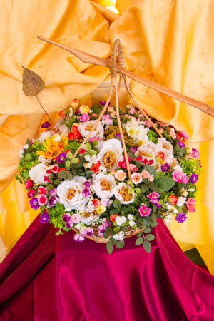 bouquet in traditional baskets Thailand style photo