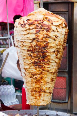 Turkish doner kebab at market Stock Photo