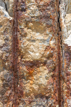 Column Concrete Reinforcement which the rusty