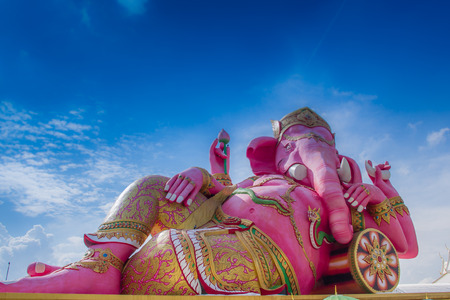 Giant Lord Ganesh postures  sleep at Saman temple,Thailand