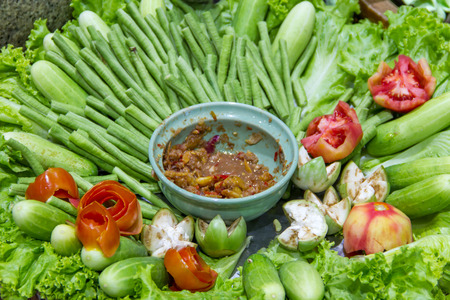 side dishes: Chili Paste and side dishes Stock Photo