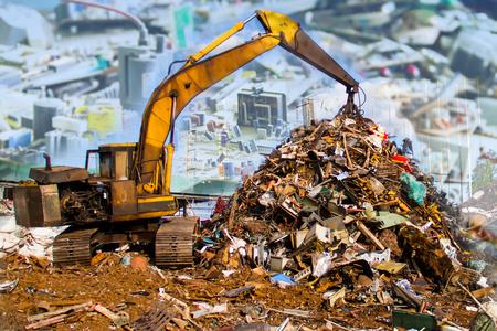 Elektronische Abfälle bereit zum Recycling (Mainboard Computer)