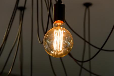 Tungsten filament lamps Stock Photo