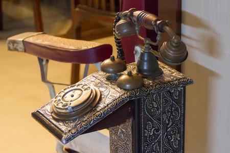 Telephone ancient Stock Photo
