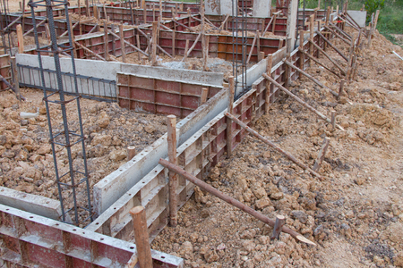 dimensions: Formwork concrete ground beams