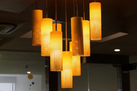 illuminate: Ceiling lamp Stock Photo