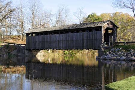 covered bridge': The famous Fallasburg covered bridge