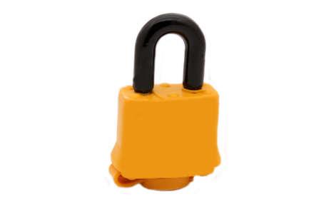 insulated: Yellow insulated lock