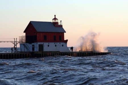 lake michigan lighthouse: Faro