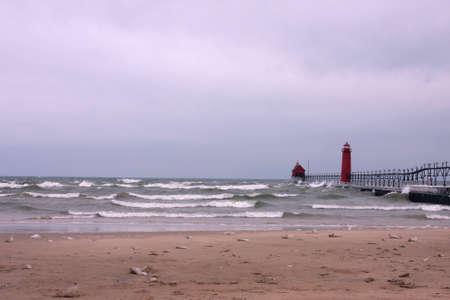 great lakes: Winter at Great Lakes beach