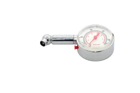 Tire pressure gauge Banco de Imagens