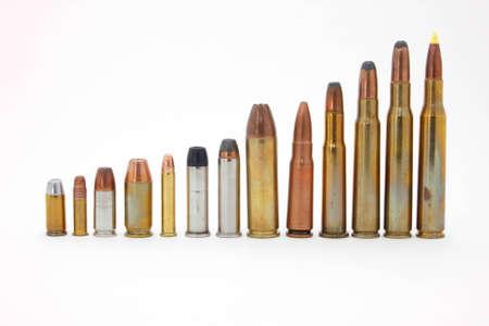 45 ammo: Ammunition Stock Photo