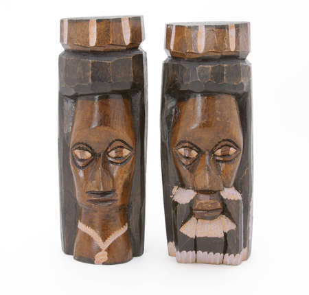 hand carved: Jamaican hand carved statues