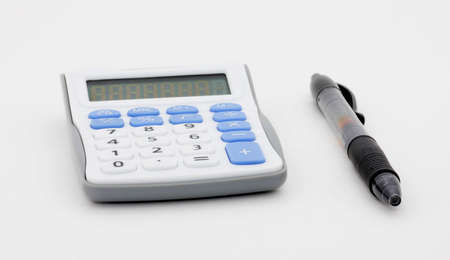 Pen and calculator Reklamní fotografie