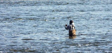 강물에 어부 스톡 콘텐츠 - 4291530