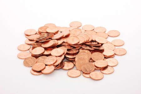 pennies: Pile of pennies Stock Photo
