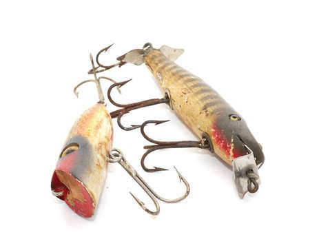 antique: Antique fishing lures