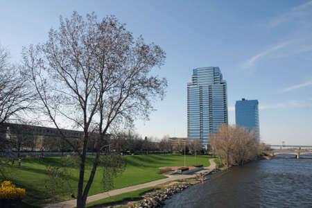 the rapids: The Grand River, Grand Rapids MI