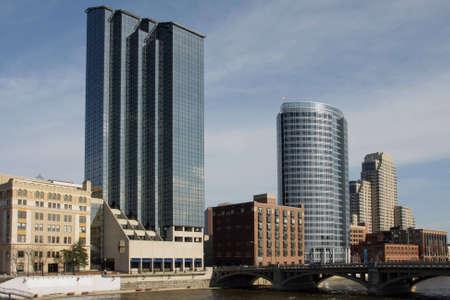 michigan: View of downtown Grand Rapids, MI