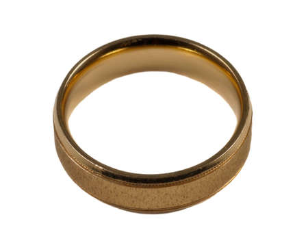 Mens gold wedding ring Banco de Imagens