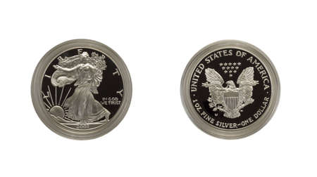 US Silver Eagle proof coin photo