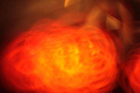 Yellow ball of flame abstract