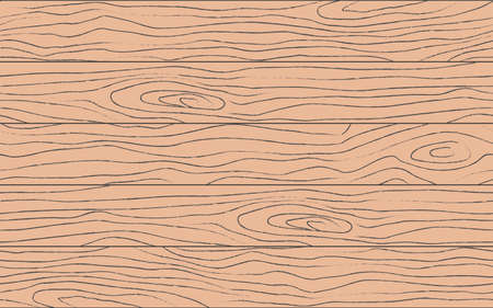 Seamless wooden pattern. Artificial grain texture. Trebled old wood texture. Abstract background. Vector stock illustration