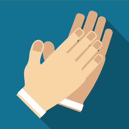 vector de icono de aplauso de mano Este icono listo para usar para todos los dispositivos y plataformas, se puede usar para varios propósitos como sitios web, plantillas de impresión, ilustración y muchos más