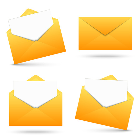 urgently: Collection - envelope with note Illustration