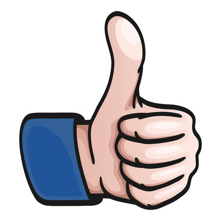 affectionate actions: Comic Hand - thumbs up