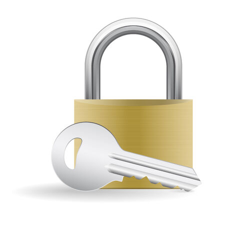 padlock shut off: Padlock and key