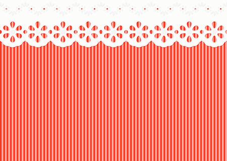 seamless background - feston sur des bandes rouges