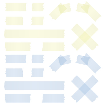 adhesive tape: collection of different adhesive stripes - blue   yellow