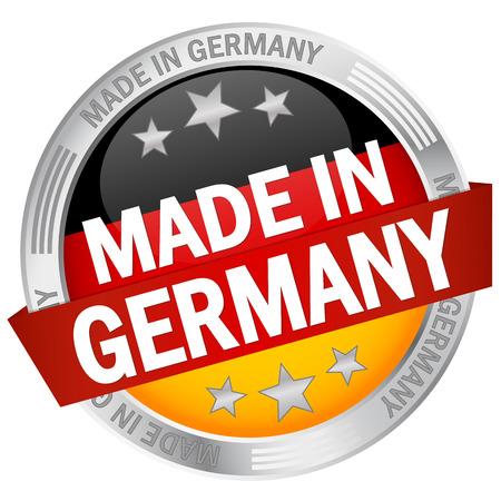 сделанный: Кнопка MADE IN GERMANY Иллюстрация