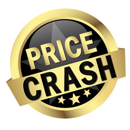 button PRICE CRASH Vector