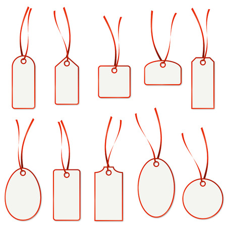 collection of hangtags Vector
